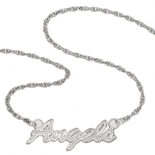 Los Angeles Angels Sterling Silver Script Necklace