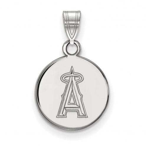 Los Angeles Angels Sterling Silver Small Disc Pendant