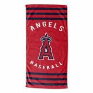 Los Angeles Angels Stripes Beach Towel