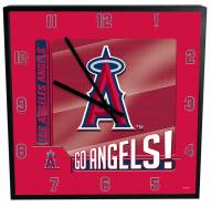 Los Angeles Angels Team Black Square Clock