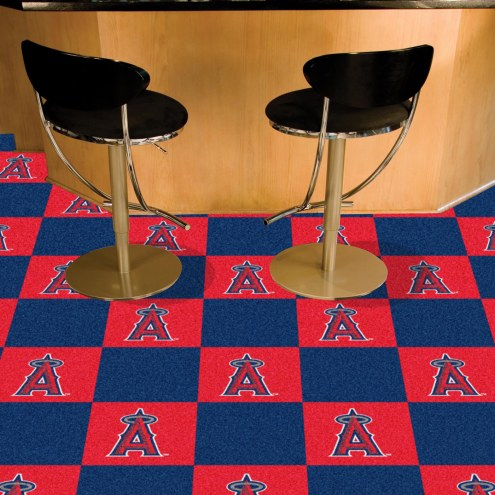Los Angeles Angels Team Carpet Tiles