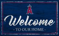 Los Angeles Angels Team Color Welcome Sign