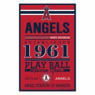 Los Angeles Angels Established Wood Sign