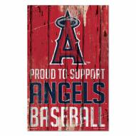 Los Angeles Angels Proud to Support Wood Sign
