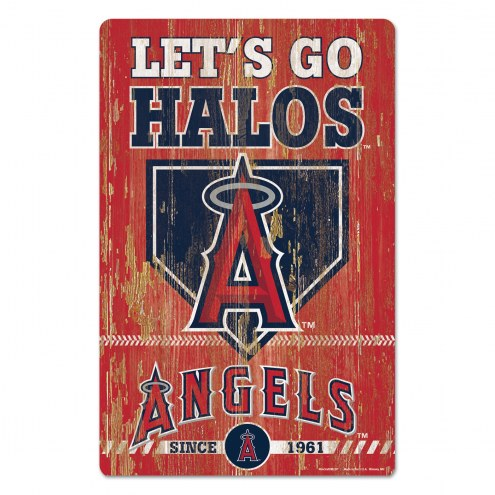 Los Angeles Angels Slogan Wood Sign