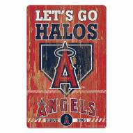 Los Angeles Angels Slogan Wood Sign