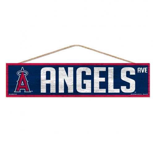 Los Angeles Angels Wood Avenue Sign