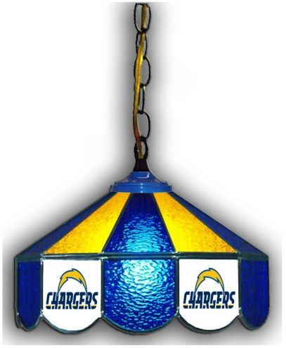 "Los Angeles Chargers 14"" Glass Pub Lamp"