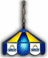 """Los Angeles Chargers 14"""" Glass Pub Lamp"""