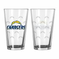 Los Angeles Chargers 16 oz. Satin Etch Pint Glass