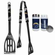 Los Angeles Chargers 2 Piece BBQ Set with Tailgate Salt & Pepper Shakers