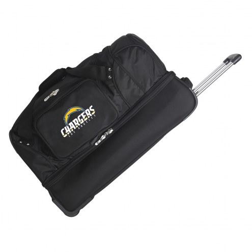 "Los Angeles Chargers 27"" Drop Bottom Wheeled Duffle Bag"