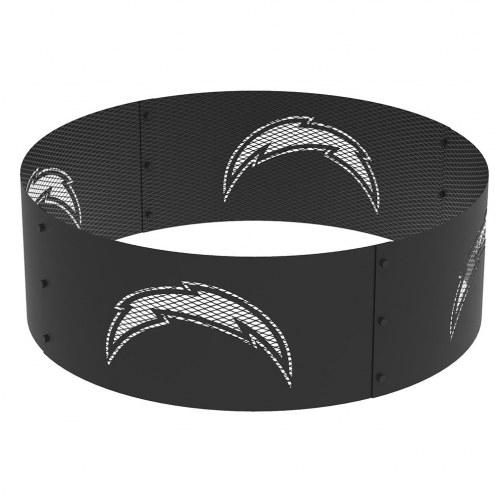 "Los Angeles Chargers 36"" Round Steel Fire Ring"