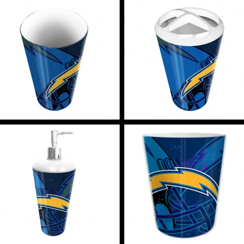 Los Angeles Chargers 4-Piece Bath Set