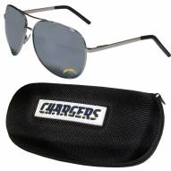 Los Angeles Chargers Aviator Sunglasses and Zippered Carrying Case
