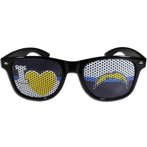 Los Angeles Chargers Black I Heart Game Day Shades