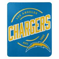 Los Angeles Chargers Campaign Fleece Throw Blanket