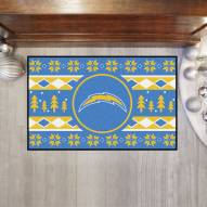 Los Angeles Chargers Christmas Sweater Starter Rug