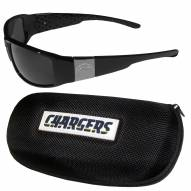 Los Angeles Chargers Chrome Wrap Sunglasses & Zippered Carrying Case