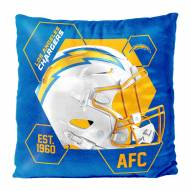 Los Angeles Chargers Connector Double Sided Velvet Pillow