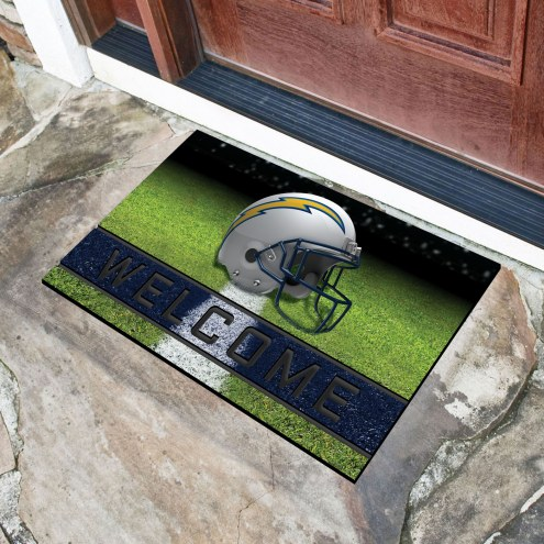 Los Angeles Chargers Crumb Rubber Door Mat