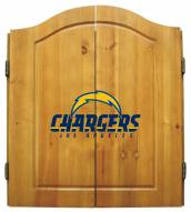 Los Angeles Chargers Dart Board Cabinet Set