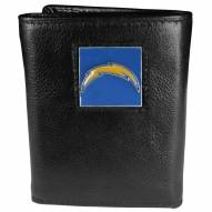Los Angeles Chargers Deluxe Leather Tri-fold Wallet in Gift Box
