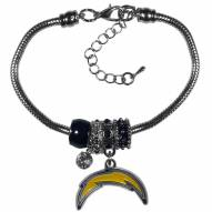 Los Angeles Chargers Euro Bead Bracelet
