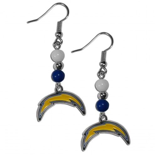 Los Angeles Chargers Fan Bead Dangle Earrings