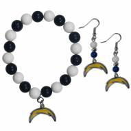 Los Angeles Chargers Fan Bead Earrings & Bracelet Set