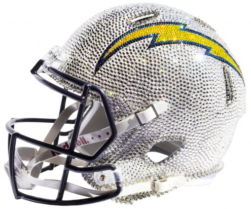 Los Angeles Chargers Full Size Swarovski Crystal Football Helmet