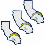 Los Angeles Chargers Home State Decal - 3 Pack