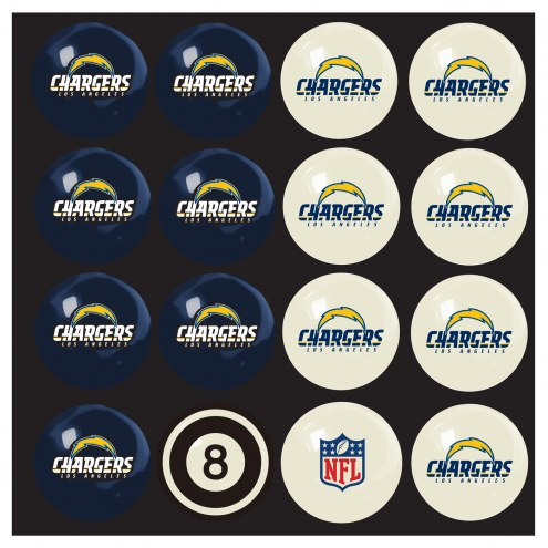 Los Angeles Chargers Home vs. Away Pool Ball Set