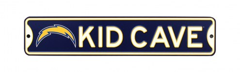 Los Angeles Chargers Kid Cave Street Sign