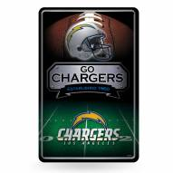 Los Angeles Chargers Large Embossed Metal Wall Sign
