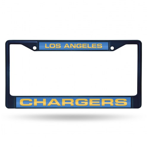 Los Angeles Chargers Laser Colored Chrome License Plate Frame