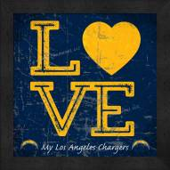 Los Angeles Chargers Love My Team Color Wall Decor