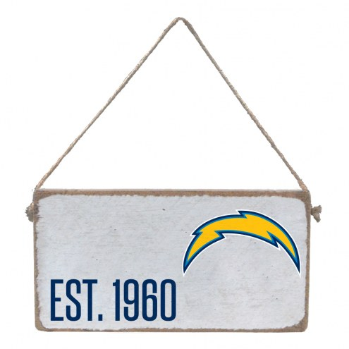 Los Angeles Chargers Mini Plank