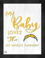 Los Angeles Chargers My Baby Loves Framed Print