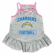 Los Angeles Chargers NFL Gray Dog Dress