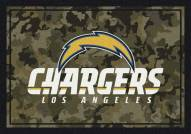Los Angeles Chargers NFL Team Camo Area Rug