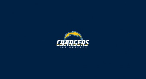 Los Angeles Chargers NFL Team Logo Billiard Cloth