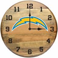 Los Angeles Chargers Oak Barrel Clock