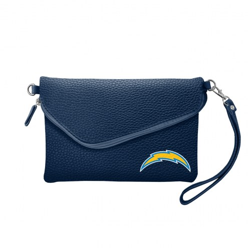 Los Angeles Chargers Pebble Fold Over Purse