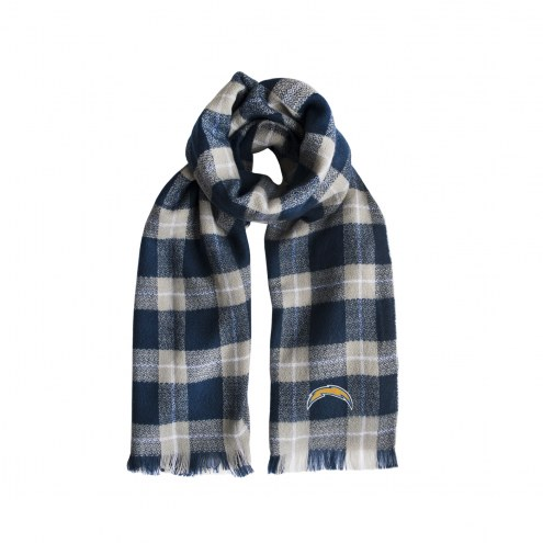 Los Angeles Chargers Plaid Blanket Scarf