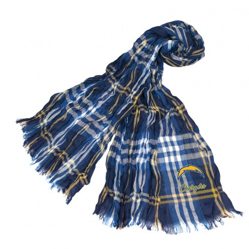 Los Angeles Chargers Plaid Crinkle Scarf