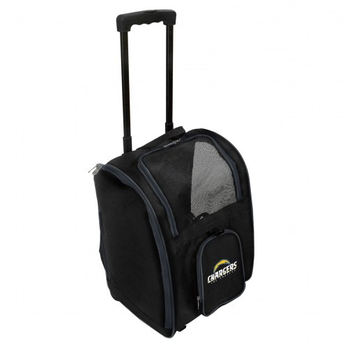 Los Angeles Chargers Premium Pet Carrier with Wheels