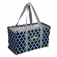Los Angeles Chargers Quatrefoil Picnic Caddy