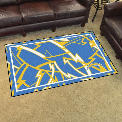 Los Angeles Chargers Quicksnap 4' x 6' Area Rug