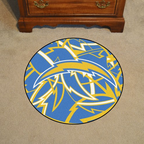 Los Angeles Chargers Quicksnap Rounded Mat